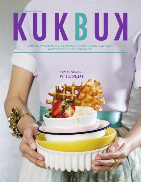 """Najnowszy numer KUKBUK-a, pt. """"W te pędy"""" promuje kampania reklamowa. BIZNES, Media i PR - 7 maja br. do dobrych salonów prasowych trafiło majowo-czerwcowe wydanie magazynu kulturalno-kulinarnego KUKBUK zatytułowane """"W te pędy"""". Sprzedaż magazynu wspierana jest przez szeroką kampanię reklamową w radiu Zet Chilli i RDC, kanale Kuchnia+, sieci kin Cinema City oraz w wybranych delikatesach sieci ALMA."""