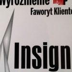 """INSIGNIA """"Faworytem Klientów"""" według Media & Marketing Polska"""
