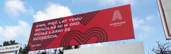 #AvenidaMyLove, czyli miłosne wyznania na billboardach w całym mieście BIZNES, Media i PR - Jedyna tego typu akcja w Polsce!