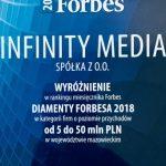 Infinity Media z tytułem Diament Forbesa 2018