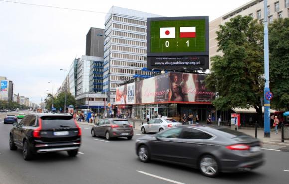 Mundial w wersji DOOH BIZNES, Media i PR - Mundial to jedna z najważniejszych i najbardziej wyczekiwanych przez kibiców piłki nożnej imprez. Odbiorcy mogli sprawdzać czas ich rozpoczęcia oraz wyniki polskiej reprezentacji również na cyfrowych ekranach LED w Warszawie.