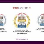 RTB House z trzema nagrodami Stevie® Awards